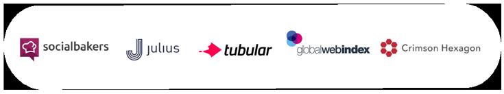 logo images of influencer marketing services